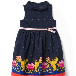 Janie and Jack Navy Floral Empire Waist Dress